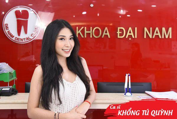 ca sĩ khổng tú quỳnh niềng răng tại nha khoa Đại Nam
